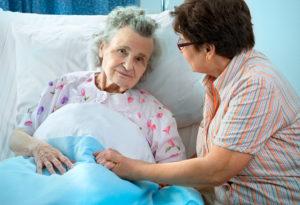 Высокая температура у пожилого человека