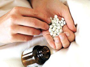 Наглоталась таблеток