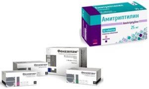 Что поможет сойти с амитриптилина и фенозепама?