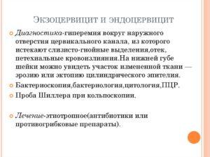 Экзоцервицит консультация