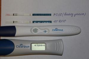 Электронный тест на беременность и обычный