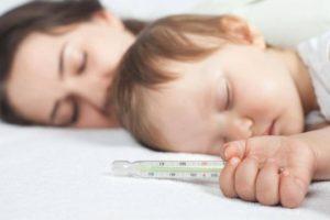 Высокая температура у ребенка без видимых симптомов