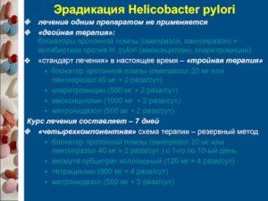 Эрадикация хеликобактер пилори