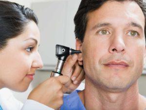 Монотонный шум в левом ухе