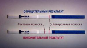 Что означают две полоски по тесту на беременность?