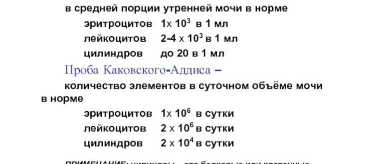 Эритроциты 3000 в моче по Нечипоренко